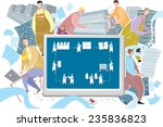 printing process concept. | Shutterstock .eps vector #235836823