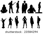 nice people silhouettes | Shutterstock .eps vector #23584294