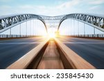 Stock photo the night of modern bridge 235845430