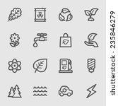green ecology web icons set   Shutterstock .eps vector #235846279