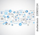 abstract technology concept of... | Shutterstock .eps vector #235852114