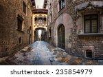 Barri Gothic Quarter And Bridg...