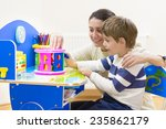 mother playing with her child... | Shutterstock . vector #235862179
