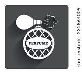 perfume bottle sign icon....
