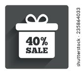 40  sale gift box tag sign icon....