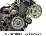 car motor isolated on white... | Shutterstock . vector #235864219