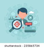 local store seo. concept of how ... | Shutterstock .eps vector #235865734
