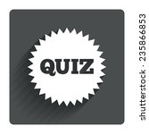 quiz star sign icon. questions...