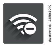 wifi minus sign. delete wi fi...