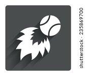 tennis fireball sign icon. fast ...