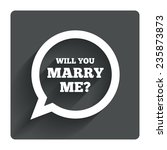 will you marry me speech bubble ... | Shutterstock .eps vector #235873873