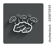 brain sign icon. brainstorm...