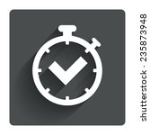 timer sign icon. check... | Shutterstock .eps vector #235873948