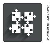 puzzles pieces sign icon....