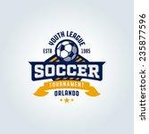 soccer football badge logo... | Shutterstock .eps vector #235877596
