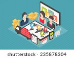 isometric 3d internet shopping  ... | Shutterstock .eps vector #235878304