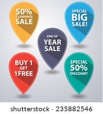 set of tags for sale with long... | Shutterstock .eps vector #235882546