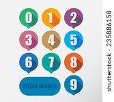 speech bubbles number set. flat ... | Shutterstock .eps vector #235886158