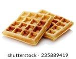 freshly baked belgian waffles...   Shutterstock . vector #235889419