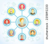 connecting people  social... | Shutterstock .eps vector #235892233