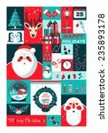 set of flat christmas icons.... | Shutterstock .eps vector #235893178