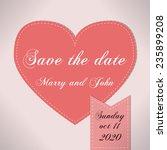 abstract wedding invitation... | Shutterstock .eps vector #235899208