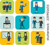 flat design learning concept...   Shutterstock .eps vector #235901653