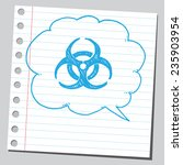 bio hazard symbol sketch in... | Shutterstock .eps vector #235903954