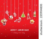 Christmas Greeting Card  Red...
