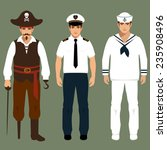pirate  captain and sailor man... | Shutterstock .eps vector #235908496