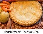 chicken pot pie. delicious and... | Shutterstock . vector #235908628