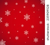 snowflake on red background... | Shutterstock .eps vector #235909528