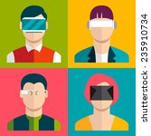 people wearing head mounted... | Shutterstock .eps vector #235910734