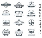 retro black logo emblems set... | Shutterstock .eps vector #235912444