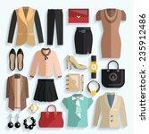 businesswoman clothes... | Shutterstock .eps vector #235912486