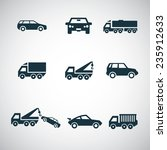 cars icons set on white... | Shutterstock . vector #235912633