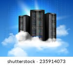 network data server with... | Shutterstock .eps vector #235914073