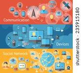 communication line banners set... | Shutterstock .eps vector #235915180