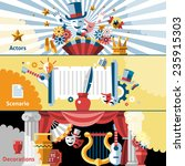theatre flat banner set with... | Shutterstock .eps vector #235915303