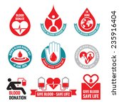 blood donation   vector logo... | Shutterstock .eps vector #235916404