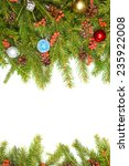 christmas background with balls ... | Shutterstock . vector #235922008