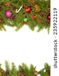 christmas background with balls ... | Shutterstock . vector #235922119