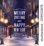 christmas card with night... | Shutterstock .eps vector #235922878