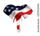 map displacement of american... | Shutterstock . vector #235932454