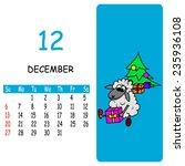 vector calendar december   Shutterstock .eps vector #235936108