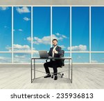smiley successful businessman... | Shutterstock . vector #235936813