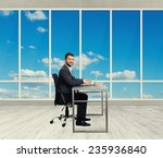 successful young businessman... | Shutterstock . vector #235936840