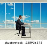 smiley young businessman... | Shutterstock . vector #235936873