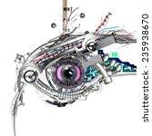 mechanical eye in direct eye... | Shutterstock . vector #235938670