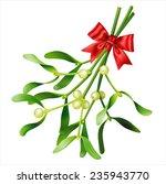 mistletoe on white. vector eps... | Shutterstock .eps vector #235943770